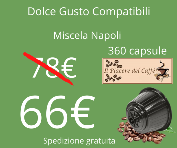 Caffè Il piacere del caffè Dolce Gusto 360Pz